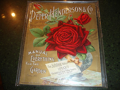 HENDERSON SEED Catalog 1897,Rochester NY. PETER HENDERSON & CO.Jubilee Edition