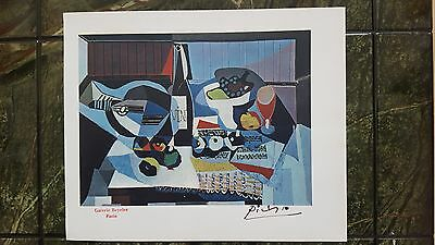 Pablo Picasso Rare Genuine 1946 Lithograph Art Print Hand Signed Paris Stamp