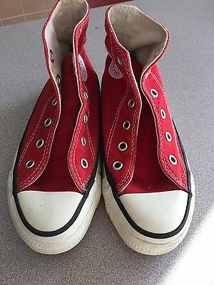 Vintage 80's MADE USA Converse Chuck Taylor One Star High Kids 13 Red