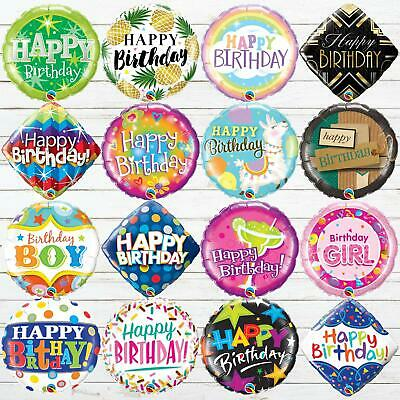 "18"" Happy Birthday Foil Balloons Childrens Party Decorations Boys Girls Adults"