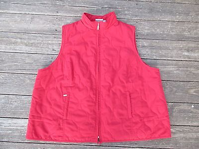 Women's Avenue 4X Red Vest Quilted Plus Size 30 32