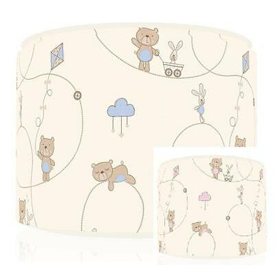 "Little Teddy Bear Blue / Pink Light Ceiling  Shade 11"" Brand New Free  P & P"
