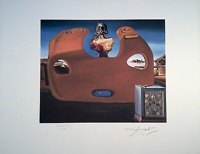 + original Salvador Dali signiert Lithographie Memory of child-woman Face +