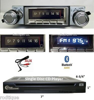1965 Cutlass F85 Bluetooth Stereo Radio + CD Player Multi Color Display 740