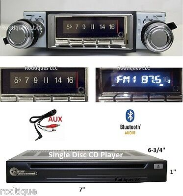 1964 Cutlass F85 Bluetooth Stereo Radio + CD Player Multi Color Display 740