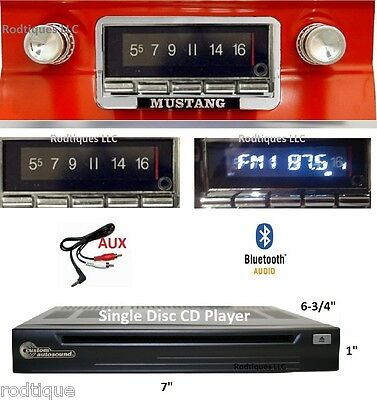 1964-66 Ford Mustang Bluetooth Stereo Radio + CD Player Multi Color Display  740