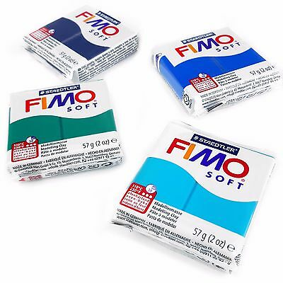 FIMO Soft Polymer Oven Modelling Clay - 57g - Set of 4 - Ocean Colours