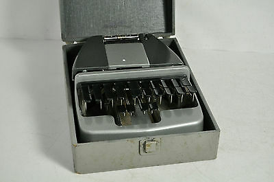 Vintage La Salle Stenotype Case Typewriter Machine In Case
