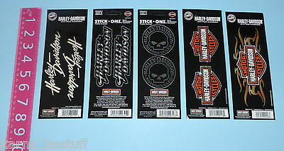 Harley-Davidson 5 assorted sheets of Stickers Decals Stick Onz NEW