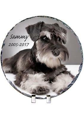 Pet Dog Photo Memorial Round Slate Personalised Plaque Beautiful Quote