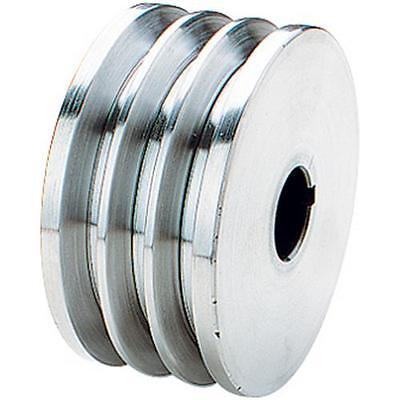 """G5520 Grizzly Triple V-Groove Pulley - 3-1/2"""" Dia., 7/8"""" Bore"""