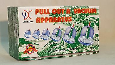 6 Cups & Pump Vacum  Cupping Set Acupuncture  Therapy Hijama