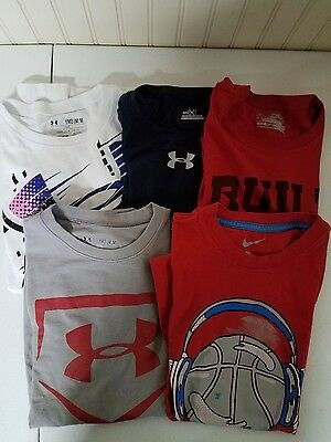 #255 GUC boys summer shirts, size M, Under Armour, Nike