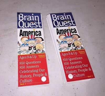 BRAIN QUEST FIRST Grade Trivia Cards Two Decks 750 Questions and