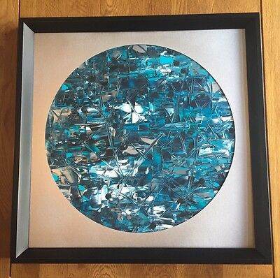 Original Framed Modern Acrylic Abstract Painting. 50 X 50 cm