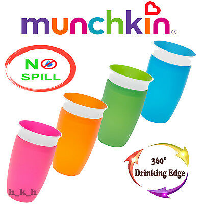 Munchkin Miracle 360 Degree Sippy Cup 296 ml Blue Pink Green Orange No Spill
