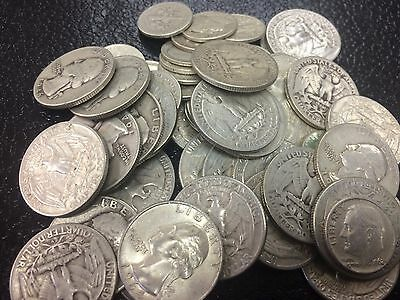 $10 Face Value Mixed U.S. 90% Silver Coins- Quarters & Dimes-042532