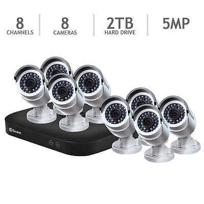 New Swann SWDVK-8HD5MP8-US 8 Channel 5MP Security System 2TB DVR &8x 5MP Cameras