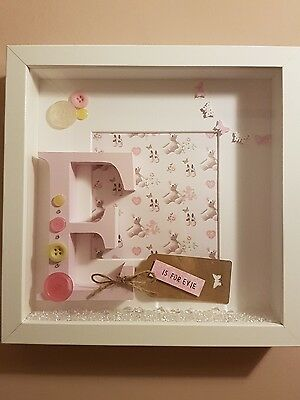 personalised box frame ~ boy or girl~ letter~new baby~christening~birthday