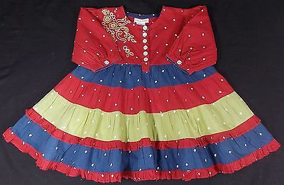 Baby dress girl funky gypsy style cotton 18 months BNWOTS