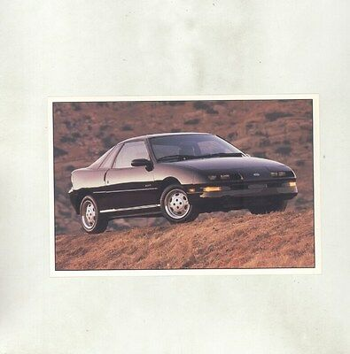 1990 Geo Storm Large ORIGINAL Factory Postcard my8407