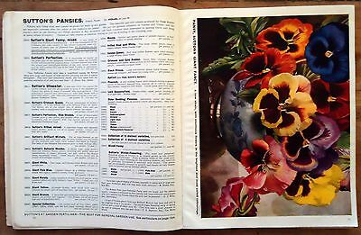 1933 - Sutton's Seeds Vegetable Seeds & Flowers Trade Catalog Reading, England