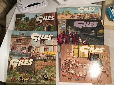 Vintage Giles Cartoon Book - Six Copies 20th To 24th + 13th