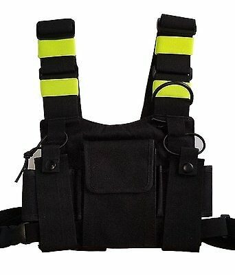Lewong Universal Hands Free Chest Harness Bag Holsterfor Two Way Radio  Rescue