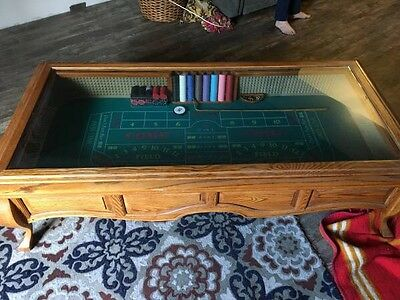 Craps Glass Top Coffee Table