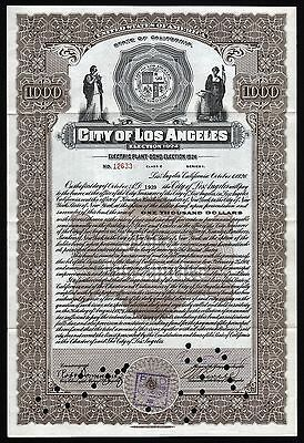 1926 California: City of Los Angeles - Electric Plant Bond, Election 1924