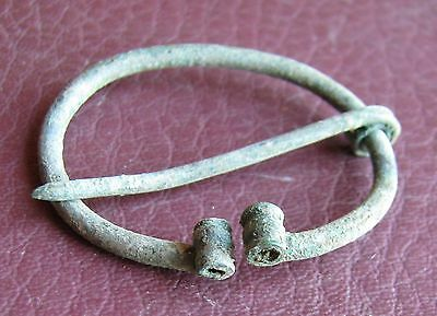 Authentic Ancient Lake Ladoga VIKING Artifact > Fibula Brooch  K5-4