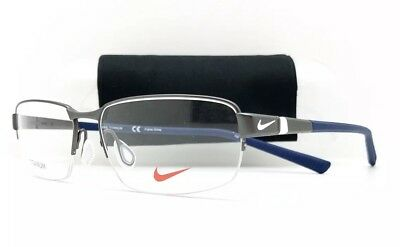 d6a5c01618 New Nike Eyeglasses 6051 060 Charcoal With Titanium 54•15•145 With Nike Case