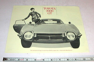 1967 Toyota 2000 Gt Factory  Sales Brochure   Original