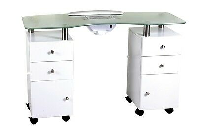 Salon Manicure Table - Nail Station - 2 Cabinets with drawers - Aus Seller