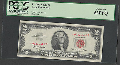 STAR*   $2  1963   Red Seal    PCGS Graded Choice New 63 PPQ