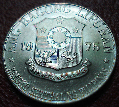 1975 Philippines 1 Piso In Uncirculated Condition