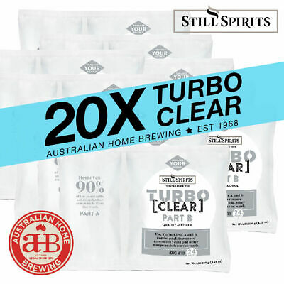 20x Still Spirits Turbo Clear BULK PACK homebrew clearing agent brewing supplies