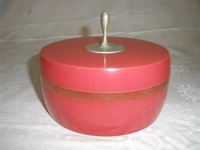 RETRO EARLY 1900s AVON CHARISMA  BEAUTY DUST CONTAINER DARK PINK