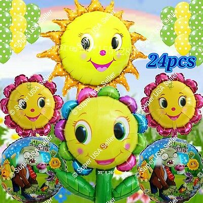 plants sun flower plants vs zombies balloons birthday party supplies r