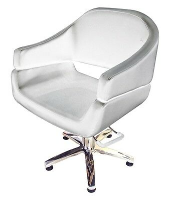 Hairdressing Client Chair with Pump Lift - white - AUS Seller