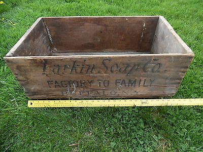 Antique Larkin Laundry Soap Co Display Box /Crate Sign Factory to Family 1880's