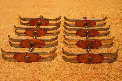 8 Vintage Art Deco Drawer Pulls Handles With Screws Bakelite