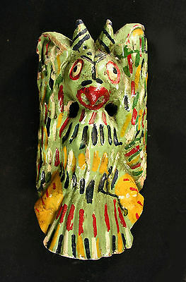 Rare Mexican Bat Mask, Old And Used, 1950's Or Older, Dance N/t Used In 50 Years