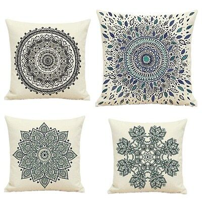 Cotton Pillow Case 1pcs Sofa Decor Home Geometric Waist Throw Cushion Cover