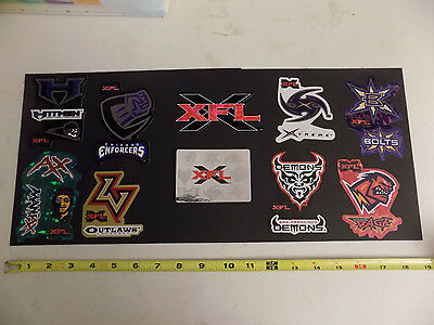 XFL Stickers Set of 10 All XFL Football Teams Rare Hitmen Enforcers Demons Logo