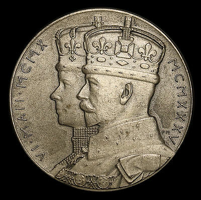 1935 UK Great Britain George V Jubilee Sterling Silver Official Medal MS UNC