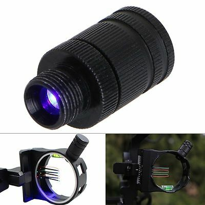 Archery Fiber Optic Thread LED Sight Light 3/8-32 Universal For Compound Bow New