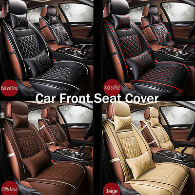 3D Surround Luxury PU Leather Car Seat Cover Cushions For Front Seat Breathable