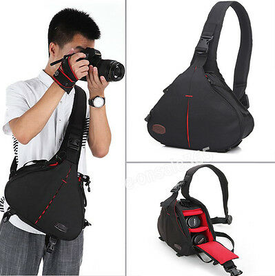 Waterproof SLR DSLR Camera Shoulder Carry Case Sling Bag For Sony Nikon Canon AU