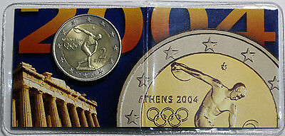 2004 Greece 2 Euro KM# 209 Olympics Discus Thrower UNC Coin